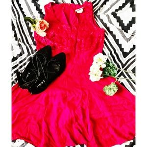 Woman's maurices red dress